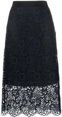 Victoria Victoria Beckham Layered Lace Skirt