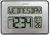 La Crosse Technology 513-1419BL-INT Backlight Atomic Full Calendar Clock with Extra Large Digits - Perfect Gift for the Elderly by