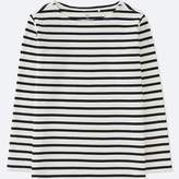 Uniqlo Kid's Striped Boat Neck Long-sleeve T-Shirt