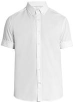 Brunello Cucinelli Button-down Collar Cotton-jersey Shirt