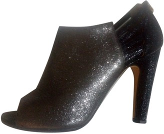 Chanel Black Glitter Ankle boots