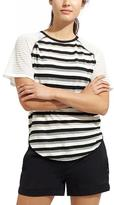 Athleta Sheer Stripe Grid Tee