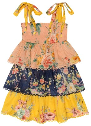 Zimmermann Kids Zinnia floral cotton dress