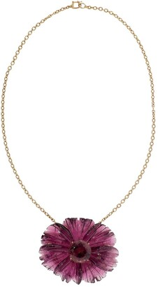 Irene Neuwirth 18kt rose gold One-Of-A-Kind Tropical Flower tourmaline necklace