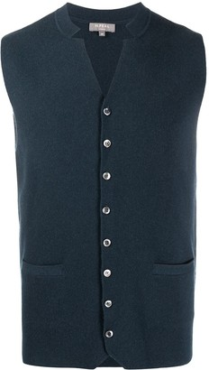 N.Peal Milano collared cashmere waistcoat