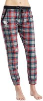 Peanuts Snoopy Plaid Microflleece Jogger Sleep Pants