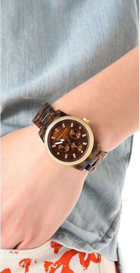 Michael Kors Tortoise Sport Watch