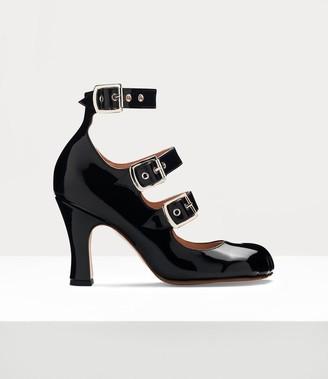 Vivienne Westwood Animal Toe 3-Strap Black