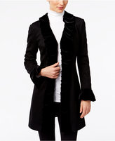 INC International Concepts Velvet Ruffled Coat, Only at Macy's