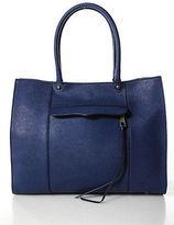 Rebecca Minkoff Navy Blue Double Handle Gold Tone Tote Shoulder Handbag
