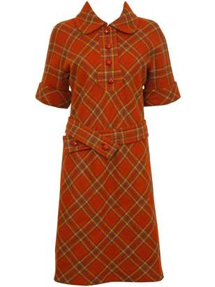 Pierre Cardin Orange Wool Dress for Women Vintage