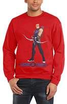 Marvel Men's Avengers Assemble Hawkeye Locked on Target Long Sleeve Sweatshirt