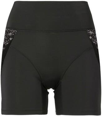 Kiki de Montparnasse Lace-Trimmed Biker Shorts
