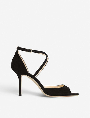 Jimmy Choo Emsy 85 peep-toe suede heeled sandals