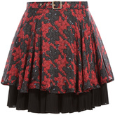 Just Cavalli Printed Silk Skirt with Pleats