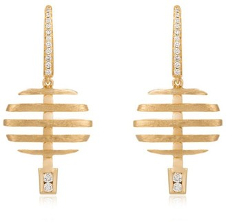 Annoushka Yellow Gold and Diamond Garden Party Earrings