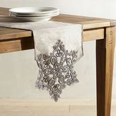 "Pier 1 Imports Silver Snowflake 72"" Table Runner"