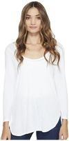 Michael Stars Slub 3/4 Sleeve Scoop Neck Tee Women's Clothing