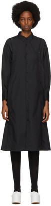 Noir Kei Ninomiya Black Cotton Button Detail Shirt Dress