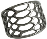 Elizabeth and James Serpentine Band Ring (Sterling Silver/Black Rhodium) - Jewelry