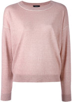 Theory crew neck jumper - women - Linen/Flax/Cashmere/Wool - L