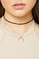 Forever 21 Faux Suede Layered Choker