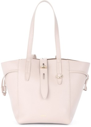 Furla Shoulder Bag Net Model In Powder Pink Leather