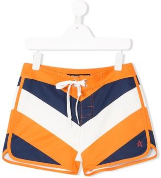 Perfect Moment Kids Chevron Swim Shorts
