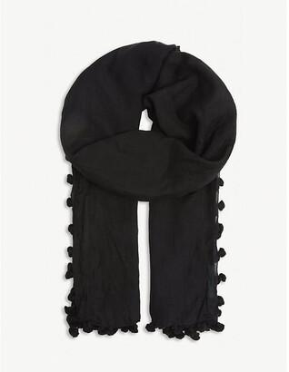 Melissa Odabash Pareo tasselled cotton-blend scarf