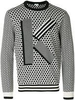 Kenzo K geometric jumper - men - Cotton/Wool - S