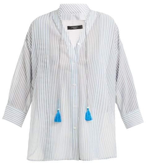 Max Mara Tattico Shirt - Womens - Blue Stripe