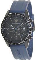 Emporio Armani Men's Sportivo AR6113 Blue Rubber Quartz Watch with Dial
