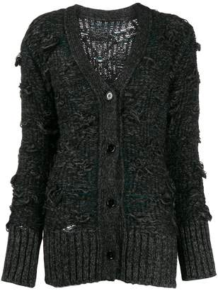 MM6 MAISON MARGIELA deconstructed cable knit cardigan