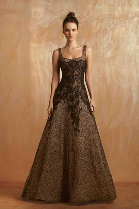 Gemy Maalouf Sleeveless Scoop Neck Evening Gown