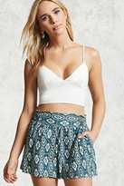Forever 21 FOREVER 21+ Southwest Linen Shorts