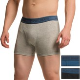 Lucky Brand Solid Cotton Boxer Briefs - 3-Pack (For Men)