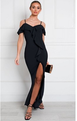 IKRUSH Carina Ruffle Bodycon Maxi Dress