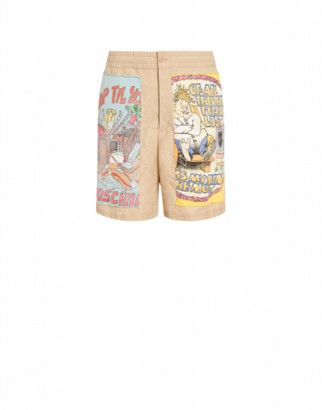 Moschino Faille Shorts With Patch