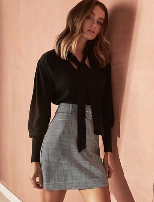 Ever New Chelsea Belted Check Mini Skirt