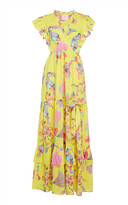 Banjanan Gabriela Buttercup Flamingo Cotton Maxi Dress