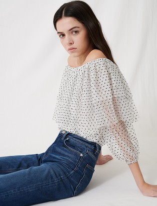 Maje Loose top with ruffles