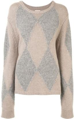 KHAITE Daisy intarsia knit jumper