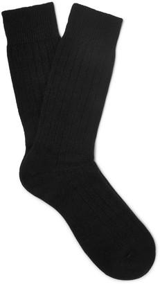 Pantherella Waddington Ribbed Cashmere-Blend Socks