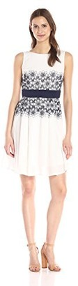 Taylor Dresses Women's Cotton Embroidered Dress