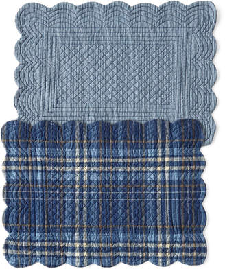 C&F Home Anthony Navy Placemats, Set of 4