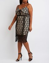 Charlotte Russe Plus Size Crochet Lace Midi Dress