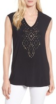 Chaus Women's Embellished A-Line Tee