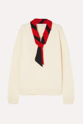 J.W.Anderson Tie-neck Merino Wool Sweater - Ivory