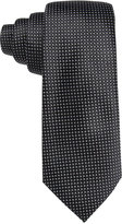 Tasso Elba Men's Black & White Dot Grid Tie, Only at Macy's