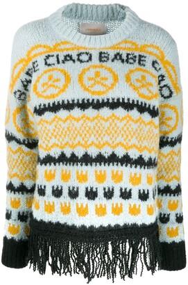 La DoubleJ Engadina intarsia knit jumper